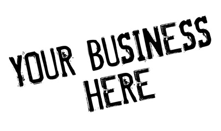 Your Business Here rubber stamp