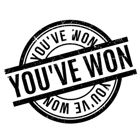 won: You have Won rubber stamp