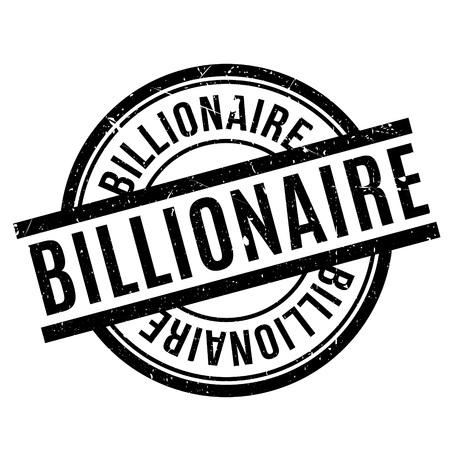 Billionaire rubber stamp Illustration