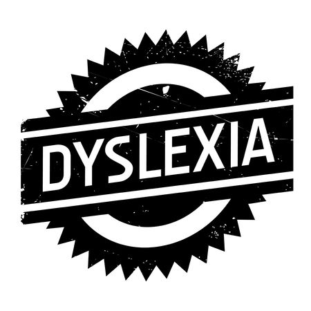 dyslexia: Dyslexia stamp. Grunge design with dust scratches. Effects can be easily removed for a clean, crisp look. Color is easily changed.