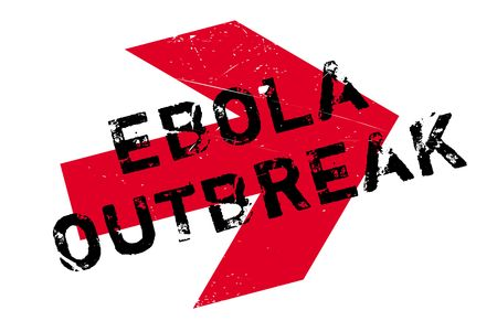 Ebola Outbreak stamp. Grunge design with dust scratches. Effects can be easily removed for a clean, crisp look. Color is easily changed. Stock Photo