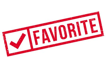 favored: Favorite rubber stamp