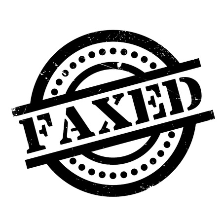 Faxed rubber stamp