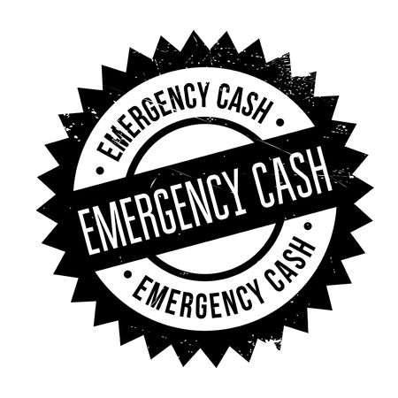 predicament: Emergency Cash stamp. Grunge design with dust scratches. Effects can be easily removed for a clean, crisp look. Color is easily changed.