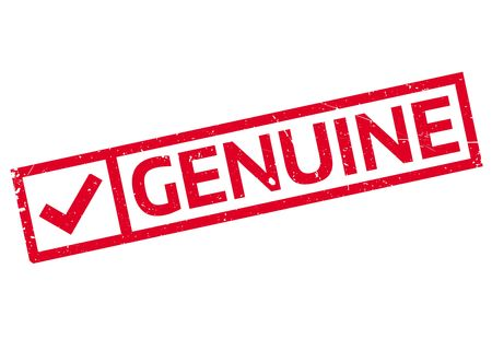 genuine: Genuine rubber stamp