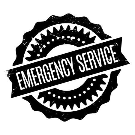 misadventure: Emergency Service stamp. Grunge design with dust scratches. Effects can be easily removed for a clean, crisp look. Color is easily changed.