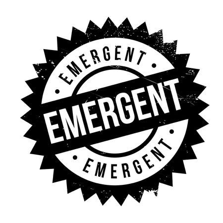 Emergent stamp. Grunge design with dust scratches. Effects can be easily removed for a clean, crisp look. Color is easily changed.