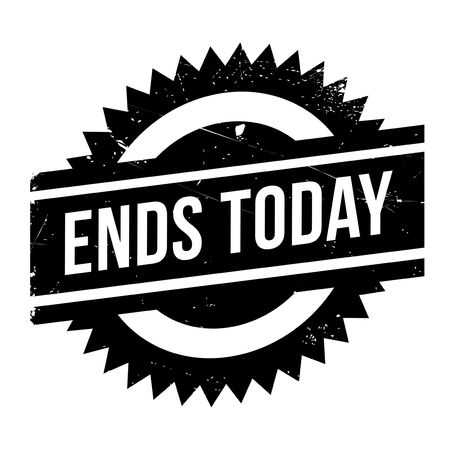 promptly: Ends Today stamp. Grunge design with dust scratches. Effects can be easily removed for a clean, crisp look. Color is easily changed.
