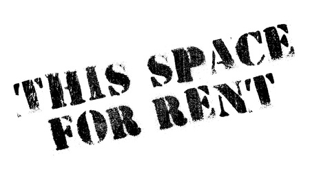 gash: This Space For Rent stamp. Grunge design with dust scratches. Effects can be easily removed for a clean, crisp look. Color is easily changed.