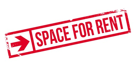 room to let: Space For Rent stamp. Grunge design with dust scratches. Effects can be easily removed for a clean, crisp look. Color is easily changed. Illustration