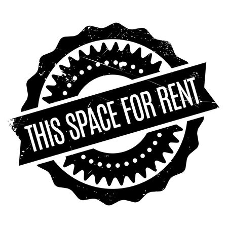 tatter: This Space For Rent stamp. Grunge design with dust scratches. Effects can be easily removed for a clean, crisp look. Color is easily changed.