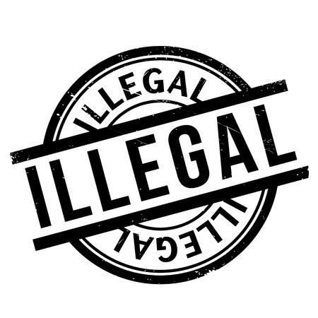 wrongful: Illegal rubber stamp Illustration