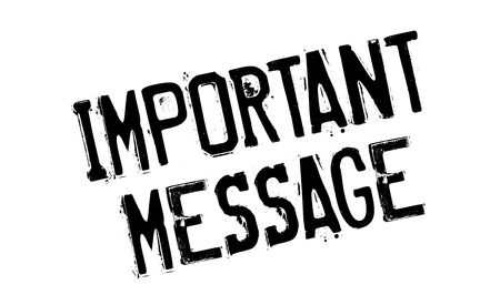 important: Important Message rubber stamp Illustration