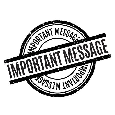 acceptation: Important Message rubber stamp Illustration