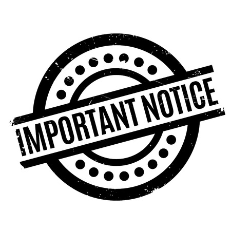 important: Important Notice rubber stamp
