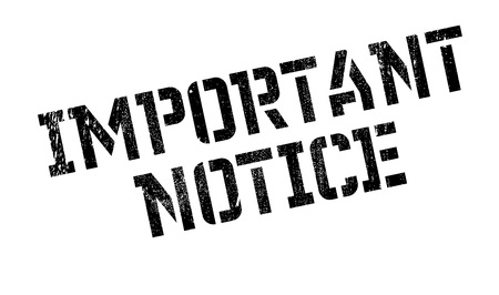 Important Notice rubber stamp