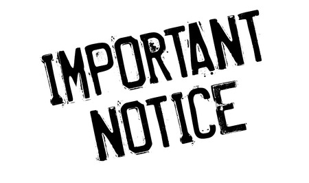 notice of: Important Notice rubber stamp