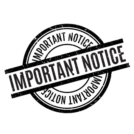 noteworthy: Important Notice rubber stamp