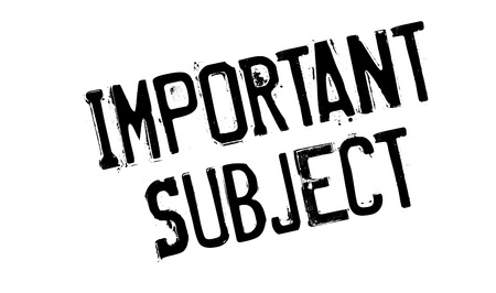 soumis: Important Subject rubber stamp