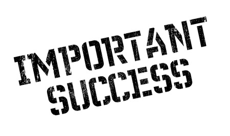 consummation: Important Success rubber stamp