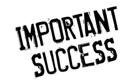 Important Success rubber stamp
