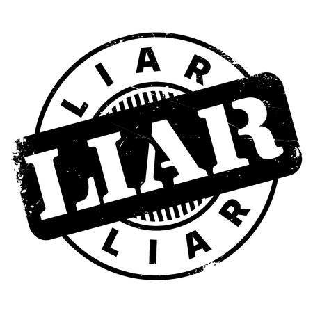 sello de goma mentiroso