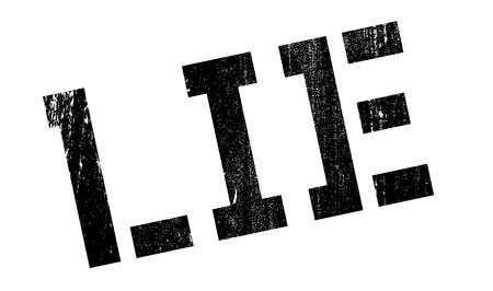deceitful: Lie rubber stamp