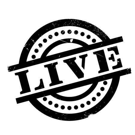 Live rubber stamp Stock Photo