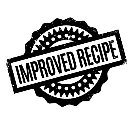improved: Improved Recipe rubber stamp