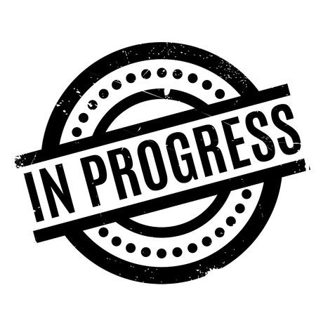 In Progress rubber stamp