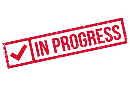 buildup: In Progress rubber stamp