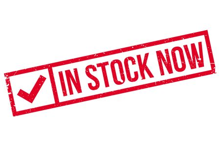 stockpile: In Stock Now rubber stamp