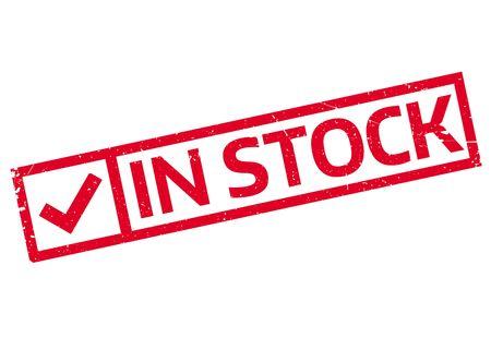 backlog: In Stock rubber stamp Illustration
