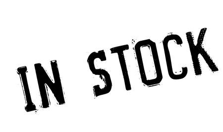 In Stock rubber stamp Illustration