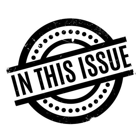 In This Issue rubber stamp
