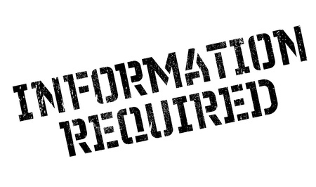 demanding: Information Required rubber stamp