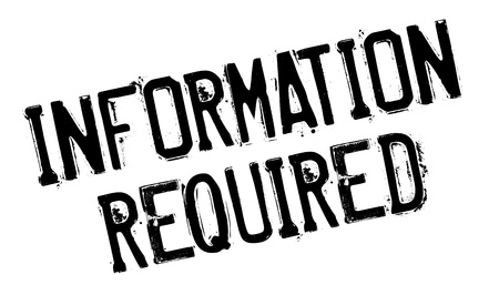 demanded: Information Required rubber stamp