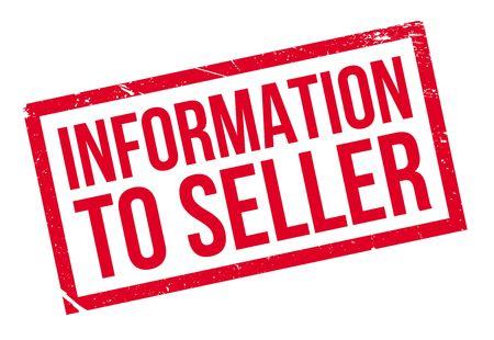 seller: Information To Seller rubber stamp
