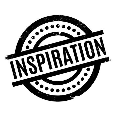 Inspiration rubber stamp Illustration