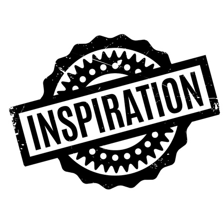 inspiration: Inspiration rubber stamp Illustration