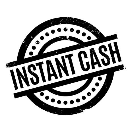 Instant Cash rubber stamp