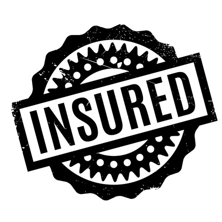 white backing: Insured rubber stamp