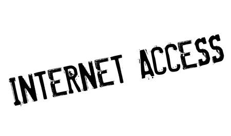 isp: Internet Access rubber stamp Illustration