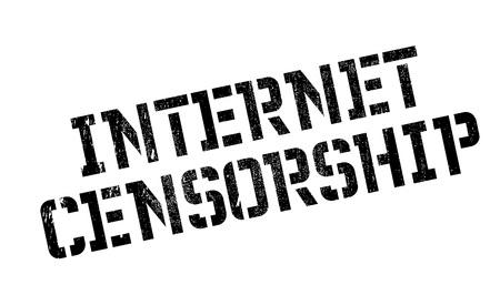 censoring: Internet Censorship rubber stamp
