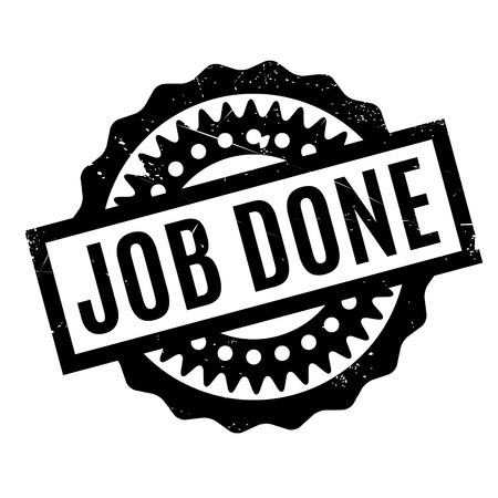 conclude: Job Done rubber stamp
