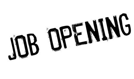 undertaking: Job Opening rubber stamp