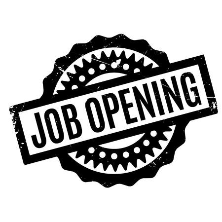 job posting: Job Opening rubber stamp