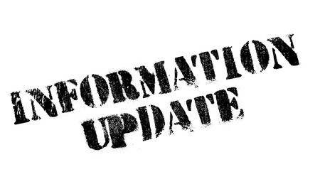 Information Update rubber stamp. Grunge design with dust scratches. Effects can be easily removed for a clean, crisp look. Color is easily changed.