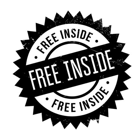 Free Inside stamp. Grunge design with dust scratches. Effects can be easily removed for a clean, crisp look. Color is easily changed.