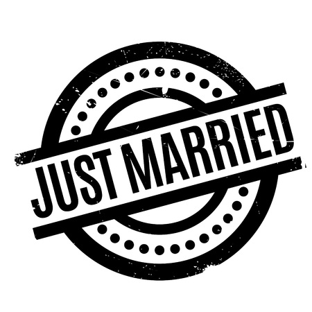 Just Married rubber stamp. Grunge design with dust scratches. Effects can be easily removed for a clean, crisp look. Color is easily changed.